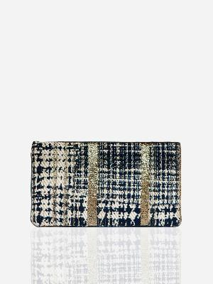 LEO TWEED FOLDABLE POUCH