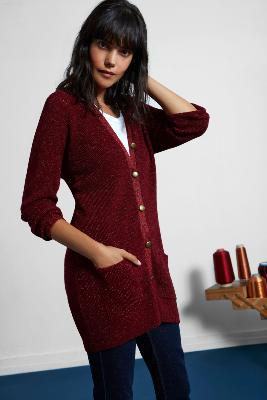 PICADILLY MERINO AND LUREX® CARDIGAN