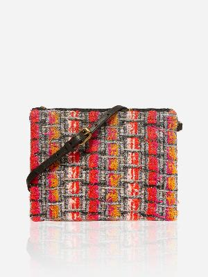 ETIENNE SILVER TWEED POUCH
