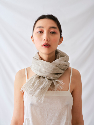 DESERT LINEN AND LUREX SCARF