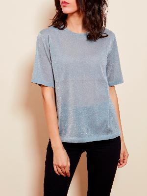BLUE GREY SUMMER TOP