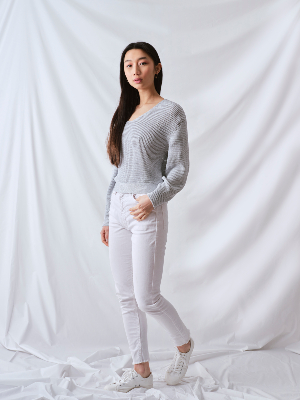 BAMBOO SWEATER BLANCHE